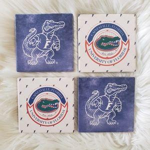B2G1 NWT UF Florida Gators Coaster Set